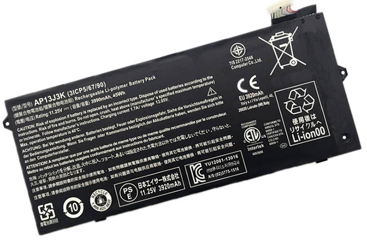 Battery for Acer AP13J3K laptop